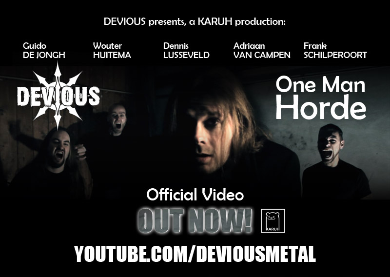 devious one man horde metal video 2013